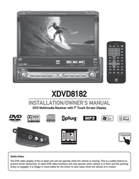 "Dual 7"" LCD DVD Receiver XDVD8182 User Manual"
