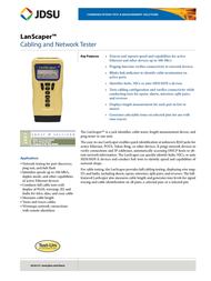 JDSU NT700 Leaflet