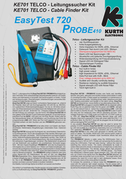 Kurth Electronic KE 701 0.49567 Leaflet