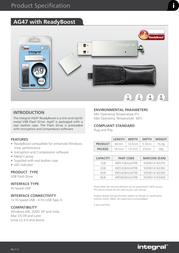 Qtrek Integral Pen Drive 4GB AG47 4GB Leaflet