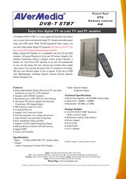 AVerMedia AVerTV DVB-T STB7 VGAV1033 Leaflet