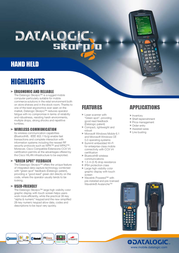 Datalogic Skorpio (BT, Win CE, 38 Keys) 942201001 Leaflet