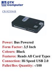DTK Computer CR-N2104-B Leaflet
