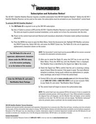 Humminbird Marine Radio AS WX 1 Leaflet