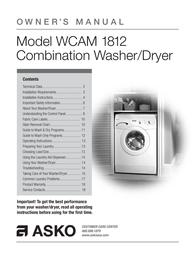 Asko WCAM 1812 User Manual