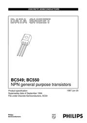 Kerafol N/A BC 549 B NPN Case type TO 92 I(C) 0.2 A Emi BC549B Data Sheet
