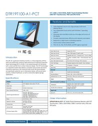 AIS DTR19T100-A1-PCT Leaflet