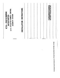 Crimestopper cs-9228mx Installation Instruction