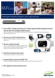 Novatel MiFi 3352 28012 Leaflet