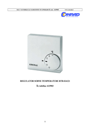 Eberle Room thermostat Surface-mount 24 h mode 5 up to 30 °C 111 1101 51 100 User Manual
