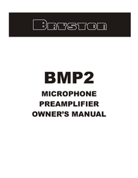 Bryston BMP2 User Manual