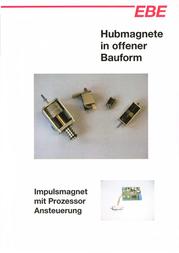 Ebe Group K04A, 0,05/1,1 N electromagnet, 12 Vdc 1.0 W M2 3100122 Data Sheet