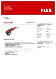 Flex XC 3401 VRG 322.008 Leaflet