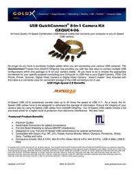 Offspring Technologies USB 8 in 1 Camera Kit GXQUC4-06 Leaflet
