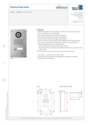 myintercom MYI0002 Product Datasheet