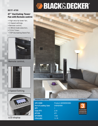 Ragalta BDTF-4700R Leaflet