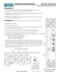 Rane Wheelchair TF 410 Leaflet