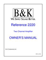 B&K 2220 User Manual