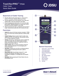 JDSU TP650 Leaflet