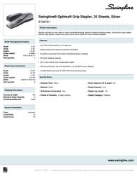 Swingline Optima S7087811 Leaflet