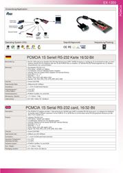 Actebis Exsys EX-1350 PCMCIA 1S Serial RS-232 ports 15.06.2232 Leaflet