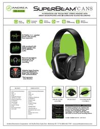 Andrea Electronics SB-805B P-C1-1026900-50 Leaflet