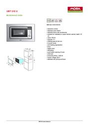 Mora VMT 310 X 389613 Leaflet