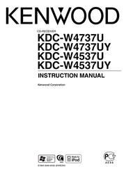 Kenwood Electronics AAC/ WMA/ MP3/ CD-Receiver KDC-W4737U User Manual