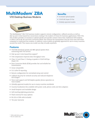Multitech MultiModem ZBA Desktop Business Modem (EU) MT5634ZBA-230V-EU Leaflet