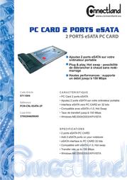 Connectland PCM- ESATA-2P 0711004 Leaflet