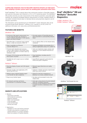 Molex eNetMeter DN Portable Test Unit Specification Guide