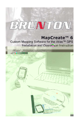 Brunton MapCreate6 사용자 설명서