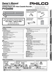 Philco PVD2000 User Manual