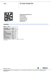 Papst 612 FL 13000000031 Data Sheet