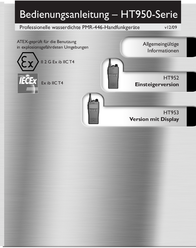 Entel PMR-Funkgerät HT-952-E ATEX N/A PMR Radio 15615 Data Sheet