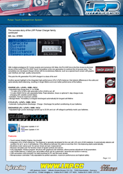 LRP Pulsar Touch Competition System 41555 Leaflet