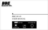 BBE DI-10 User Manual