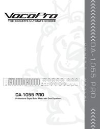 Vocopro DA-1055 PRO User Manual