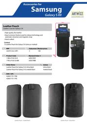 Artwizz Leather Pouch 1788-LP-SG-S3-B Leaflet