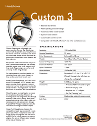 Klipsch CUSTOM 3 Leaflet