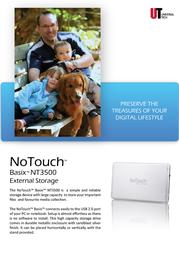 Universal-Tech NoTouch Basix NT3500 NT3587SU Leaflet