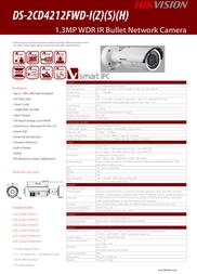 Hikvision Digital Technology DS-2CD4212FWD-IZS Leaflet