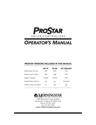 Morningstar Solar charge controller 321135 User Manual