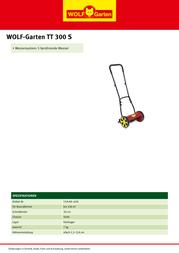 WOLF-Garten TT 300 S 15A-AA--650 Leaflet