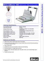Ibico ibiMaster 400 IB271076 Leaflet