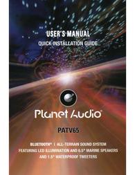 Planet Audio PATV65 Owner's Manual
