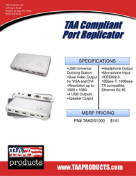 TAA Products TAADS1000 Leaflet