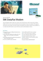 Micronet SP3018S 56K Data/Fax Modem SP3018S Leaflet