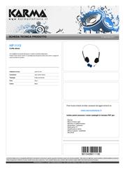 Karma Italiana HP 1113 Leaflet