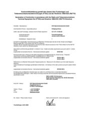 Svs Nachrichtentechnik 01250.00 433MHz Radio Component 01250.00 Data Sheet